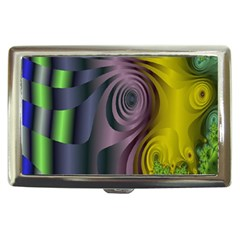 Fractal In Purple Gold And Green Cigarette Money Cases