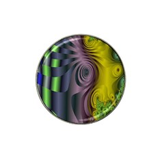 Fractal In Purple Gold And Green Hat Clip Ball Marker
