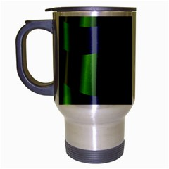 Fractal In Purple Gold And Green Travel Mug (silver Gray)