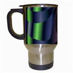 Fractal In Purple Gold And Green Travel Mugs (White)