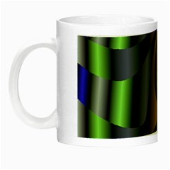 Fractal In Purple Gold And Green Night Luminous Mugs