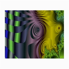 Fractal In Purple Gold And Green Small Glasses Cloth