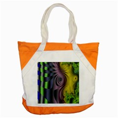 Fractal In Purple Gold And Green Accent Tote Bag