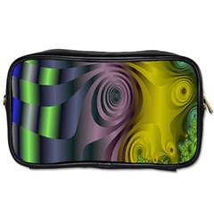 Fractal In Purple Gold And Green Toiletries Bags 2-Side
