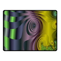 Fractal In Purple Gold And Green Fleece Blanket (small)