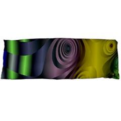 Fractal In Purple Gold And Green Body Pillow Case (Dakimakura)