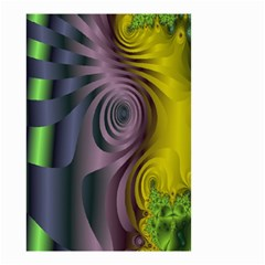Fractal In Purple Gold And Green Small Garden Flag (Two Sides)