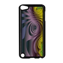 Fractal In Purple Gold And Green Apple iPod Touch 5 Case (Black)