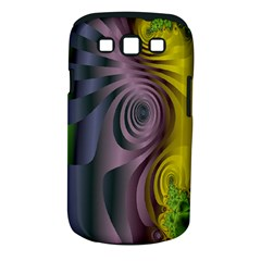 Fractal In Purple Gold And Green Samsung Galaxy S III Classic Hardshell Case (PC+Silicone)
