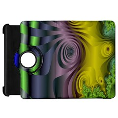 Fractal In Purple Gold And Green Kindle Fire HD 7