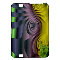 Fractal In Purple Gold And Green Kindle Fire HD 8.9