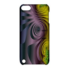 Fractal In Purple Gold And Green Apple iPod Touch 5 Hardshell Case with Stand