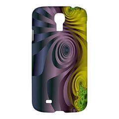 Fractal In Purple Gold And Green Samsung Galaxy S4 I9500/I9505 Hardshell Case