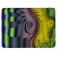 Fractal In Purple Gold And Green Samsung Galaxy Tab 7  P1000 Flip Case