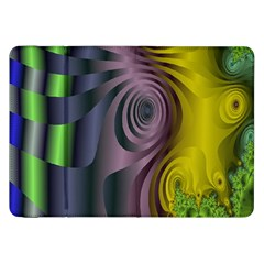 Fractal In Purple Gold And Green Samsung Galaxy Tab 8.9  P7300 Flip Case