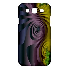 Fractal In Purple Gold And Green Samsung Galaxy Mega 5 8 I9152 Hardshell Case