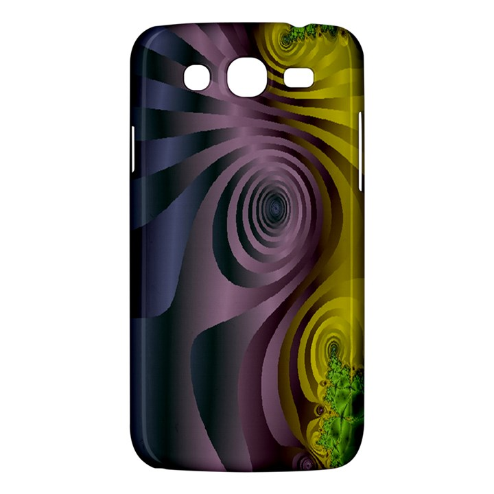 Fractal In Purple Gold And Green Samsung Galaxy Mega 5.8 I9152 Hardshell Case