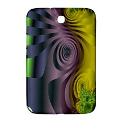Fractal In Purple Gold And Green Samsung Galaxy Note 8.0 N5100 Hardshell Case