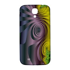 Fractal In Purple Gold And Green Samsung Galaxy S4 I9500/I9505  Hardshell Back Case