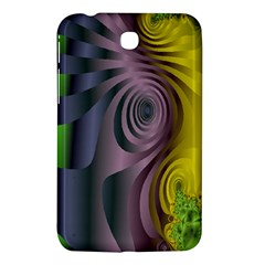 Fractal In Purple Gold And Green Samsung Galaxy Tab 3 (7 ) P3200 Hardshell Case