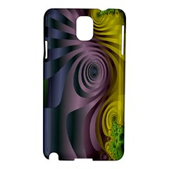 Fractal In Purple Gold And Green Samsung Galaxy Note 3 N9005 Hardshell Case