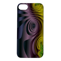 Fractal In Purple Gold And Green Apple iPhone 5S/ SE Hardshell Case
