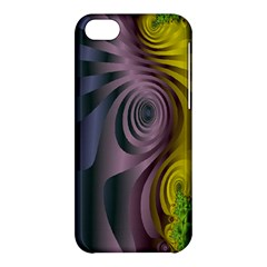 Fractal In Purple Gold And Green Apple iPhone 5C Hardshell Case