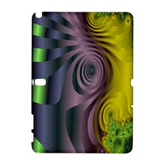 Fractal In Purple Gold And Green Galaxy Note 1