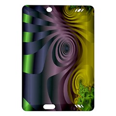 Fractal In Purple Gold And Green Amazon Kindle Fire HD (2013) Hardshell Case