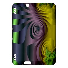 Fractal In Purple Gold And Green Kindle Fire HDX Hardshell Case