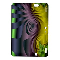 Fractal In Purple Gold And Green Kindle Fire Hdx 8 9  Hardshell Case