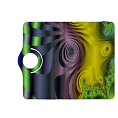 Fractal In Purple Gold And Green Kindle Fire HDX 8.9  Flip 360 Case