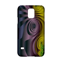 Fractal In Purple Gold And Green Samsung Galaxy S5 Hardshell Case