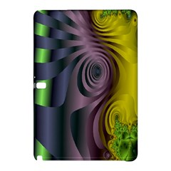 Fractal In Purple Gold And Green Samsung Galaxy Tab Pro 10.1 Hardshell Case