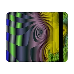 Fractal In Purple Gold And Green Samsung Galaxy Tab Pro 8 4  Flip Case