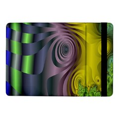 Fractal In Purple Gold And Green Samsung Galaxy Tab Pro 10.1  Flip Case