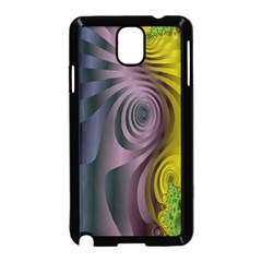 Fractal In Purple Gold And Green Samsung Galaxy Note 3 Neo Hardshell Case (Black)