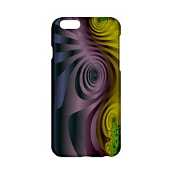 Fractal In Purple Gold And Green Apple iPhone 6/6S Hardshell Case