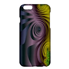 Fractal In Purple Gold And Green Apple iPhone 6 Plus/6S Plus Hardshell Case