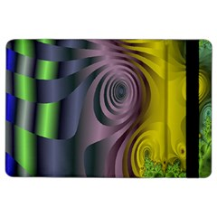 Fractal In Purple Gold And Green iPad Air 2 Flip