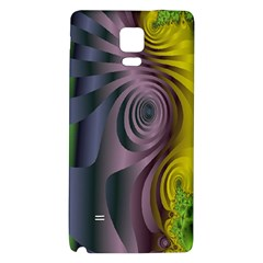 Fractal In Purple Gold And Green Galaxy Note 4 Back Case