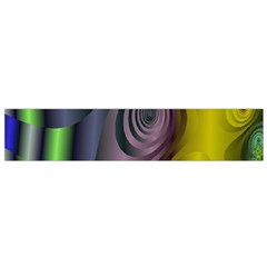 Fractal In Purple Gold And Green Flano Scarf (small)