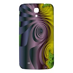 Fractal In Purple Gold And Green Samsung Galaxy Mega I9200 Hardshell Back Case