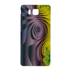 Fractal In Purple Gold And Green Samsung Galaxy Alpha Hardshell Back Case