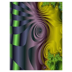 Fractal In Purple Gold And Green Drawstring Bag (large)
