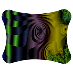 Fractal In Purple Gold And Green Jigsaw Puzzle Photo Stand (bow)