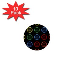 Happy Birthday Colorful Wallpaper Background 1  Mini Buttons (10 Pack)