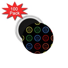 Happy Birthday Colorful Wallpaper Background 1 75  Magnets (100 Pack)