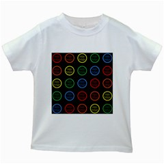 Happy Birthday Colorful Wallpaper Background Kids White T-Shirts