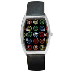 Happy Birthday Colorful Wallpaper Background Barrel Style Metal Watch